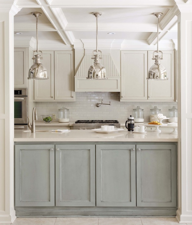grey two-toned kitchen